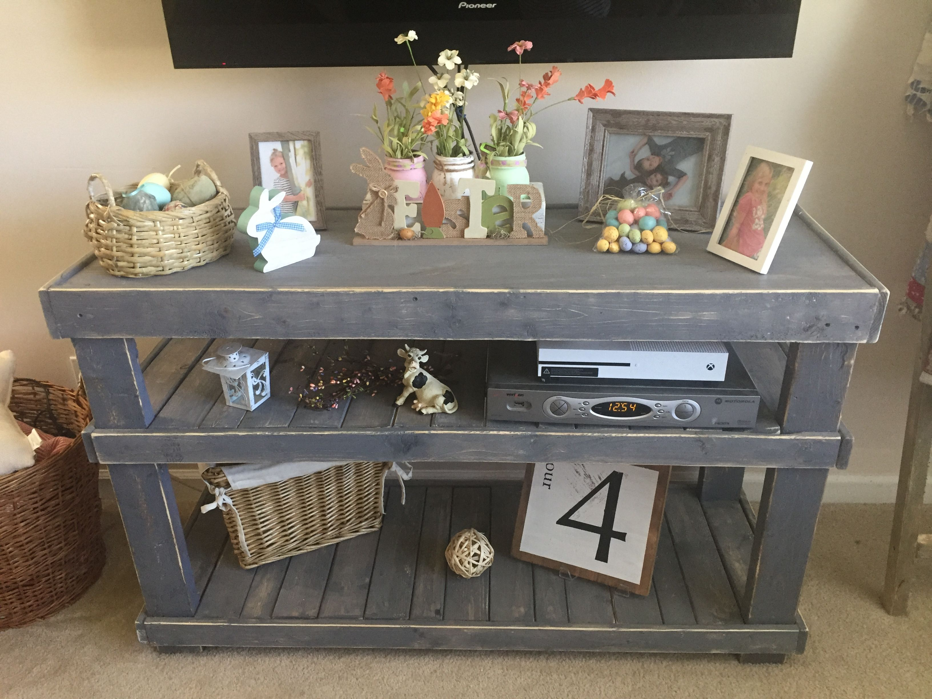 Farmhouse Entertainment Center Easter Farmhouse decorating