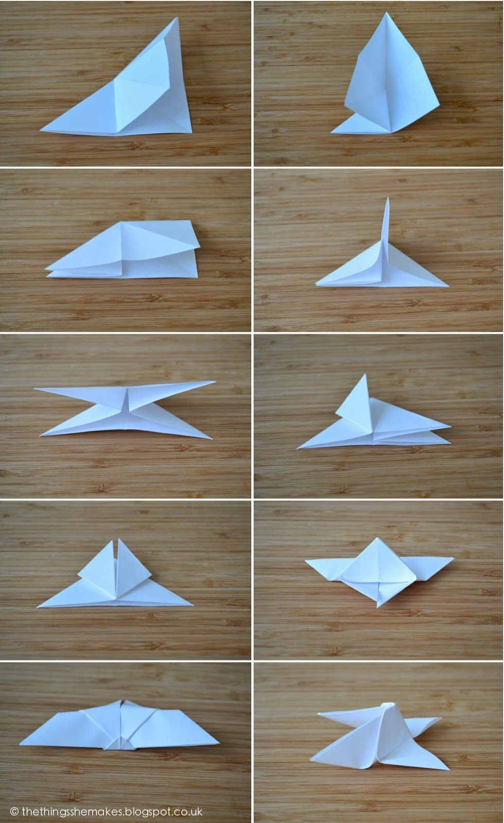 How To Make Origami Butterflies The Things She Makes Paper