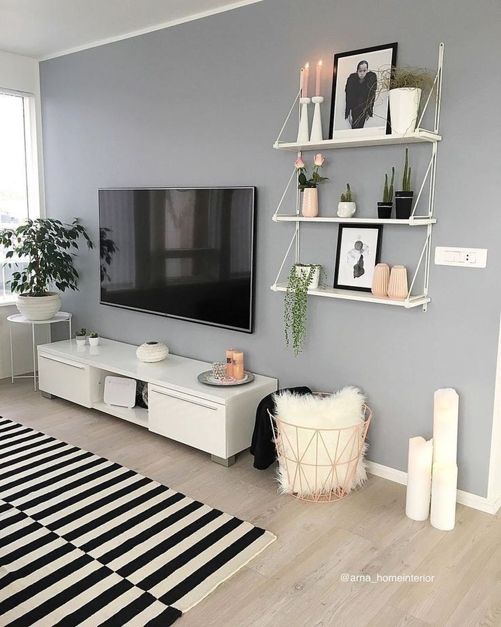 30 Beautiful Living Room Wall Decoration Ideas You Can Try Living Room Decor Tips Living Room Decor Apartment Apartment Living Room Design