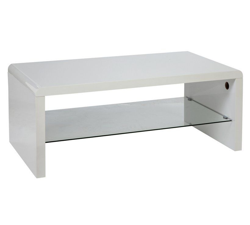 Surprising Buy Hygena Sleigh 1 Shelf Coffee Table White Gloss Pdpeps Interior Chair Design Pdpepsorg