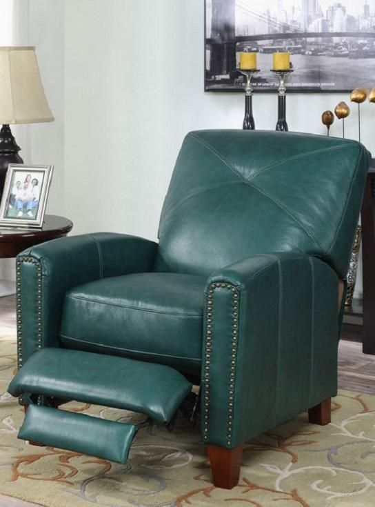 The Matias Top Grain Leather Pushback Recliner is the ultimate in comfort and the perfect accent & The Matias Top Grain Leather Pushback Recliner is the ultimate in ... islam-shia.org