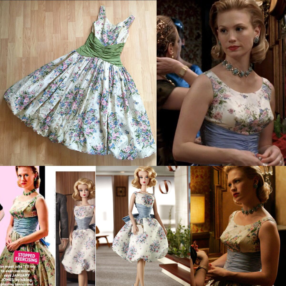 Mad Men 1950s Betty Draper / Barbie Dress will be Added into the ...