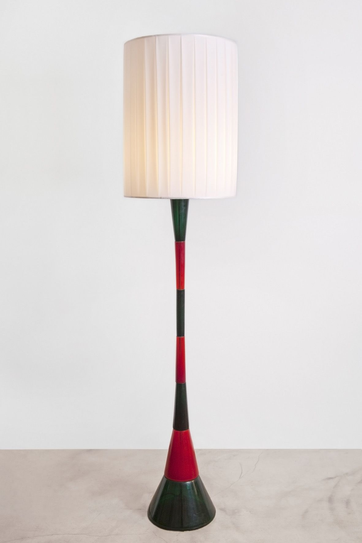 Fulvio bianconi colored glass floor lamp for venini c1955 low fulvio bianconi colored glass floor lamp for venini c1955 mozeypictures Gallery