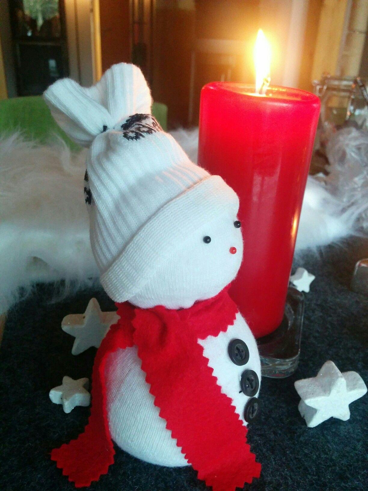 Schneemann aus einer Socke