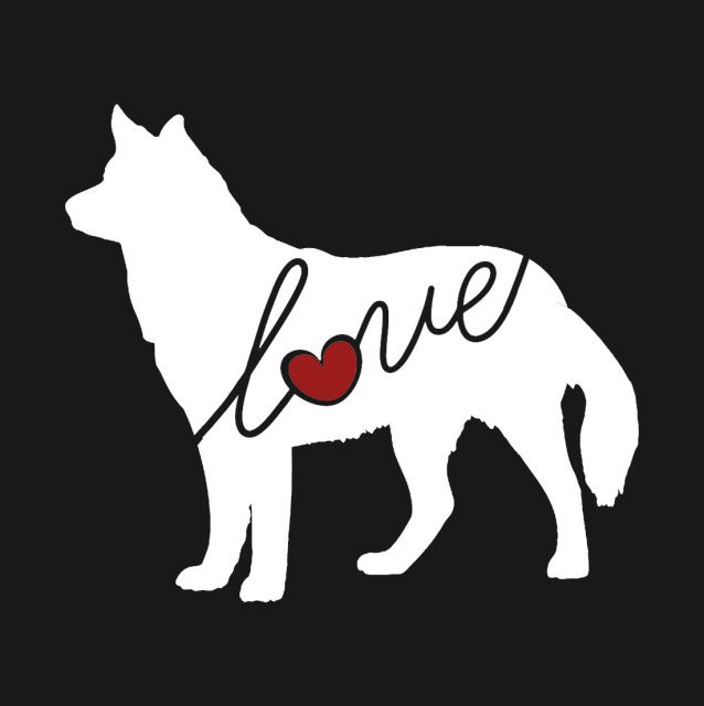 Siberian Husky Love Window Vinyl Car Sticker Decal For Dog Lovers