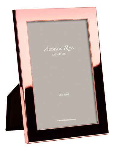 Addison Ross Rose Gold Plating Frames is part of Rose gold rooms - Addison Ross Rose Gold Plating Frames SA flat 15mm rose gold plated profile is exceptionally fashionable  Black Velvet backing  Gift Boxed  Dimensions (in)Holds (4  x 6 , 5  x 7 , 8  x 10 ) photographs By Addison Ross   Based in the U K , Addison Ross designs and manufactures beautiful frame collections in Enamel, Si