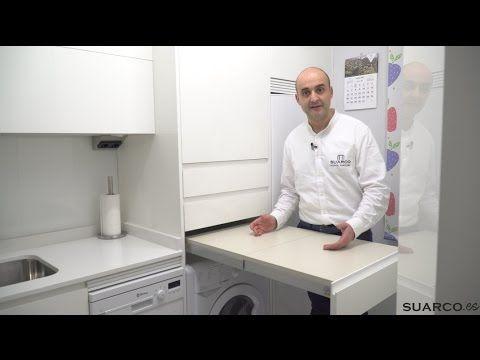Una cocina moderna blanca con isla espectacular - Youtube cocinas modernas ...