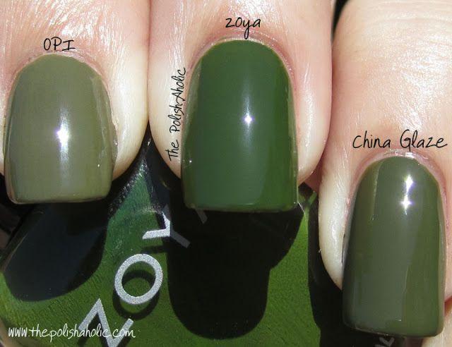 The PolishAholic: OPI Uh-Oh Roll Down The Window vs Zoya Shawn vs China Glaze Westside Warrior (2 coats each)