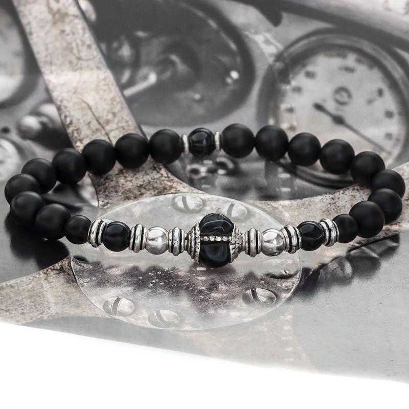 bracelet homme un bracelet perles luxe de la marque casteld i casteld bijoux bijoux homme. Black Bedroom Furniture Sets. Home Design Ideas