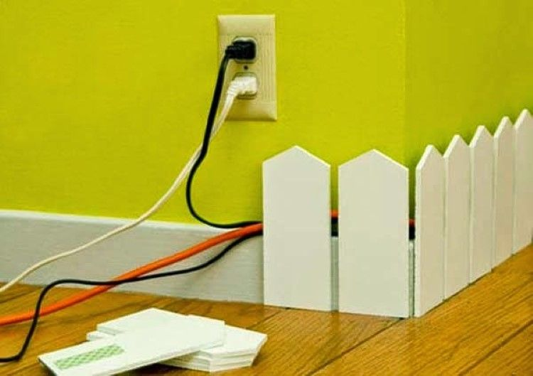 hide cables around walls with a style