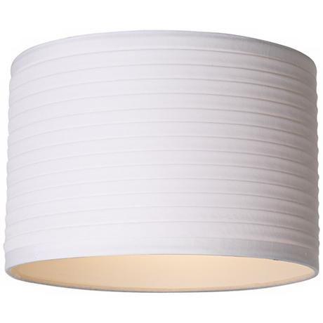 White Horizontal Pleat Drum Lamp Shade 11x11x7 5 Spider