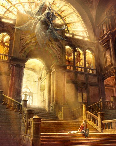 steampunk library | Cool art in 2019 | Fantasy concept art ...