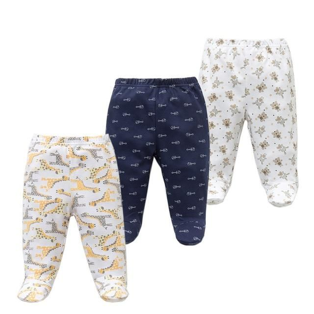 45290ba494c9 3PCS lot Baby Pants 100% Cotton Autumn Spring Newborn Baby Boys ...