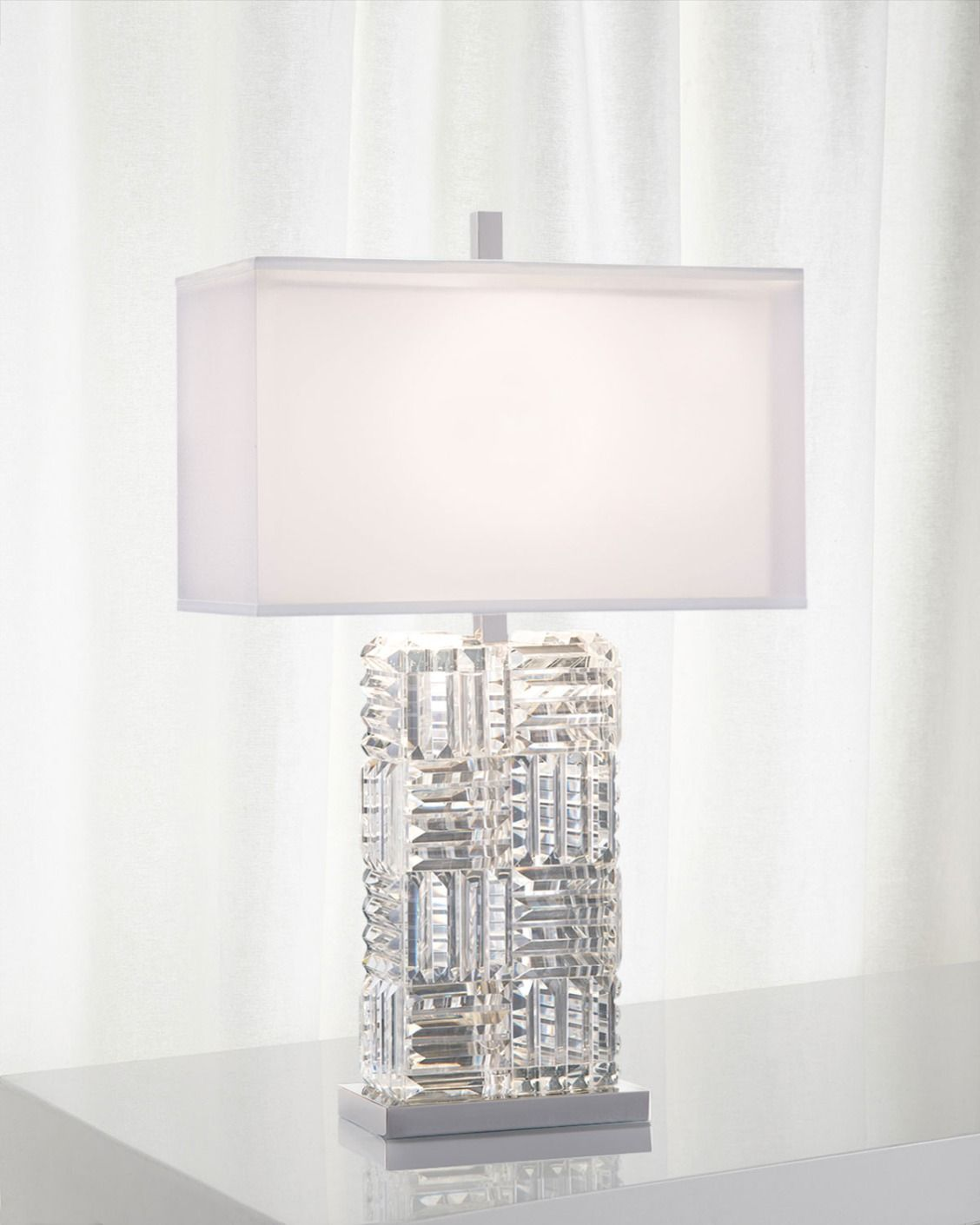John richard collection crystal prisms table lamp make a john richard collection crystal prisms table lamp geotapseo Image collections