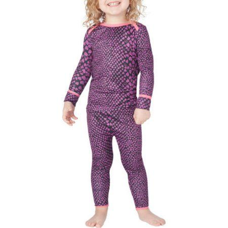 Climate Right by Cuddl Duds Toddler Girl Polycore Warm Underwear Set, Size: 5 Years