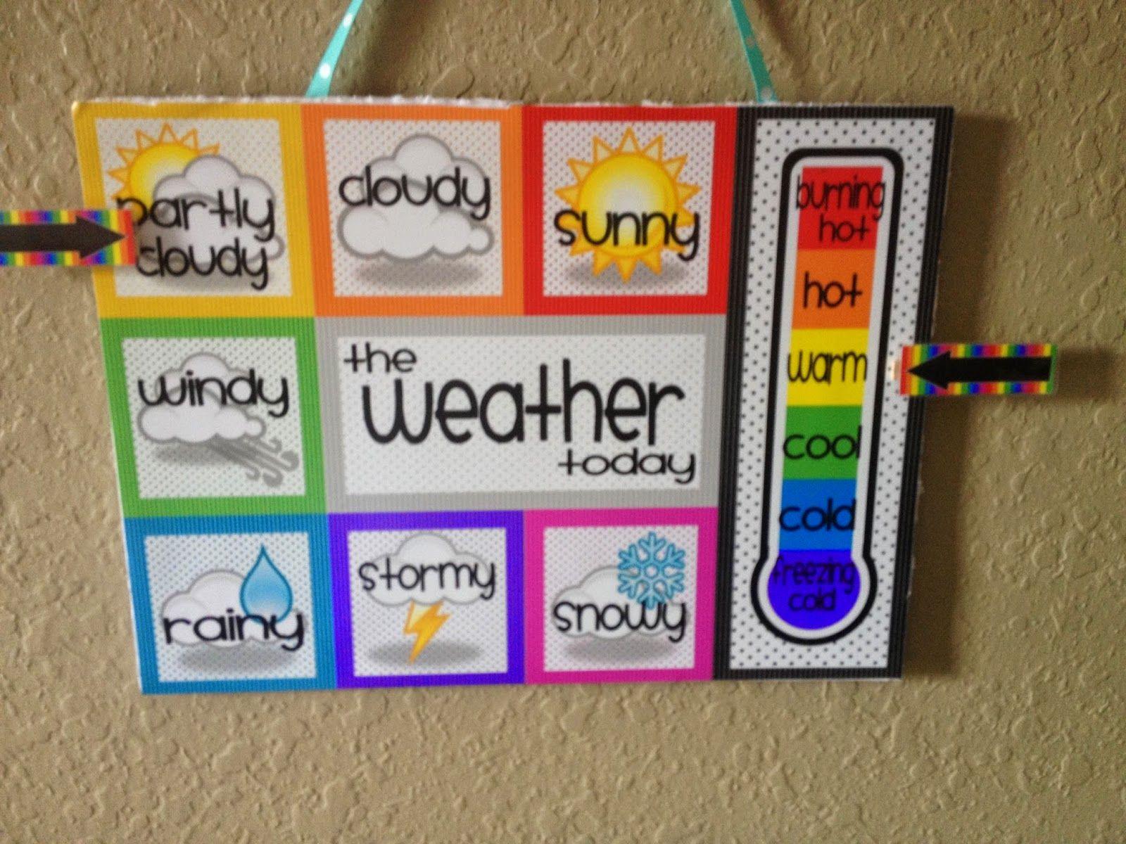 Diy Weather Chart Kindergarten Science