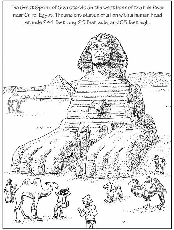 Coloring Page Of The Great Sphinx Google Search Ancient Egypt
