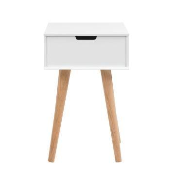 Der Nachttisch Mitra Hat Eine Größe Von X 40 X 30 Cm (H/B/T). Der  Geradlinige Korpus Besteht Aus Weiß Lackierter MDF Und Verfügt über Eine  Kleine Schublade.