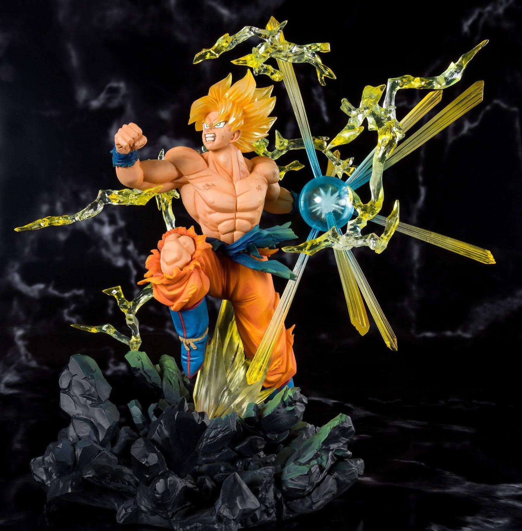 Dragonball Z Figuartszero Pvc Statue Super Saiyan Son Goku Tamashii Web Exclusive 20 Cm Animegami Store Goku Super Saiyan Dragon Ball Artwork Goku