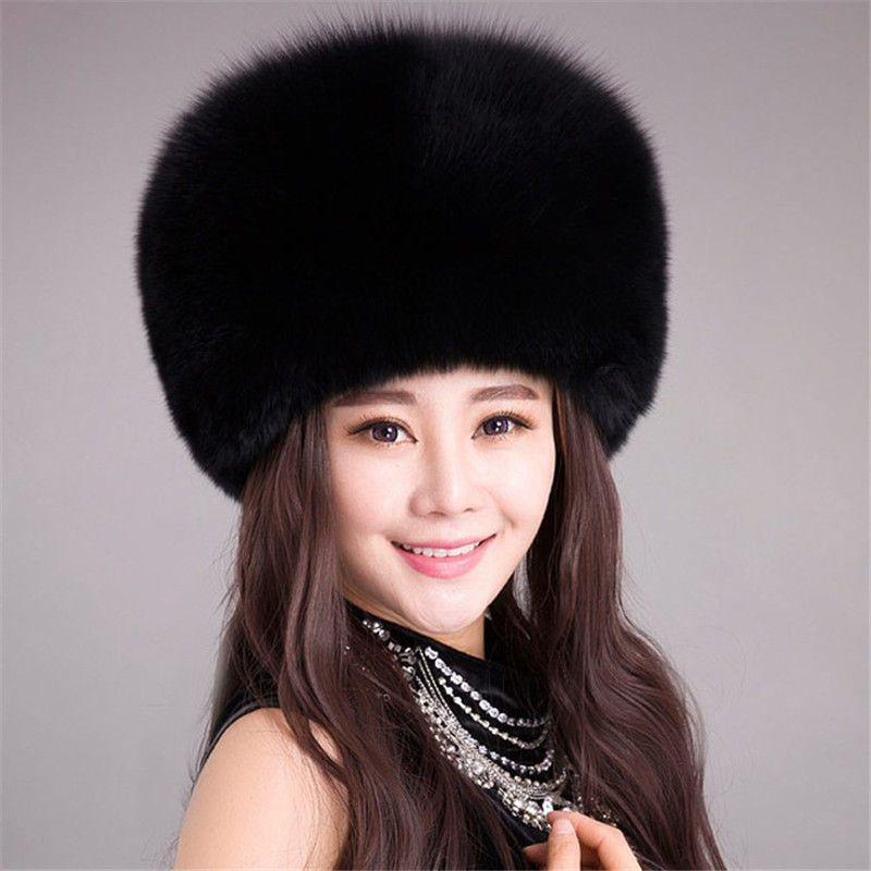 1b8cbbe2216 Ladies Warm Furry Faux Rabbit Fur Hat Russian Women Winter Cossack ...