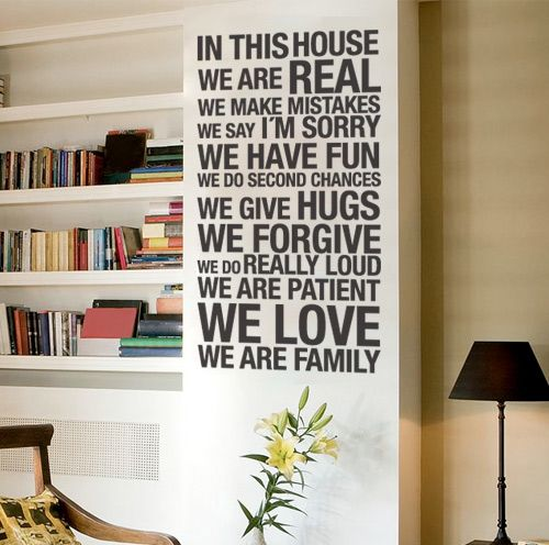 Quote wall decal in this house wall decals home wallart decals