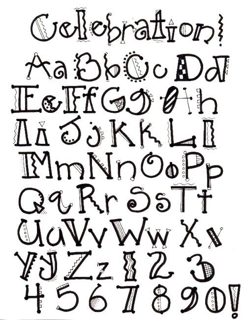 Pin By Bollfamily On Lettering En Doodles    Fonts