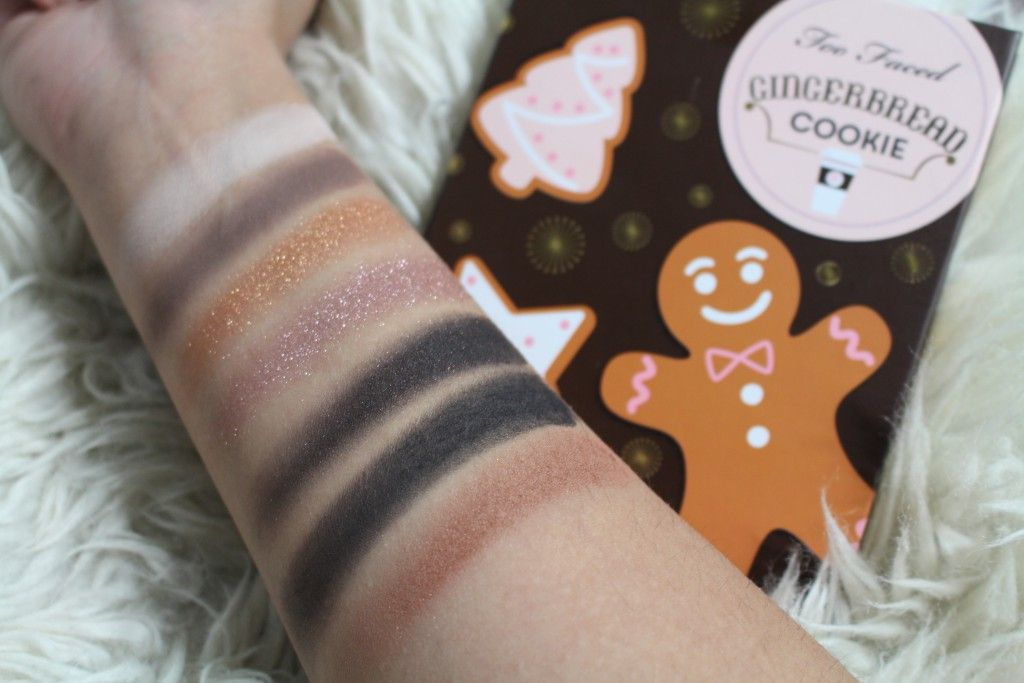 too faced grande hotel cafe gingerbread cookie swatches