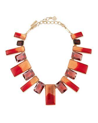 Two-Tone+Resin+&+Crystal+Bib+Necklace,+Berry+by+Oscar+de+la+Renta+at+Neiman+Marcus.