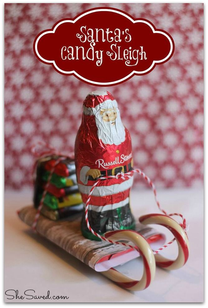 Christmas Candy Craft Ideas.Santa Candy Sleigh Christmas Craft Christmas Candy Crafts