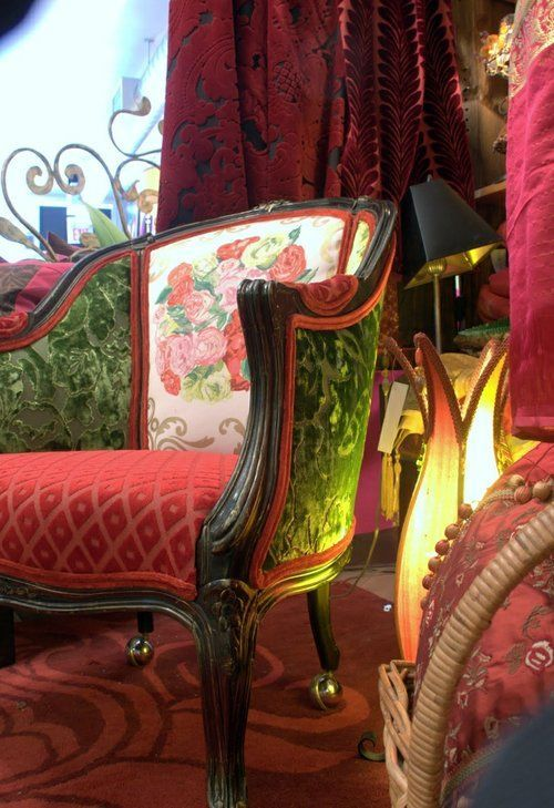 Multi Fabric Chairs   Dishfunctional Designs: From Worn To Wow! Awesome  Ideas In Upholstery  That Waverly Chintz With WHAT