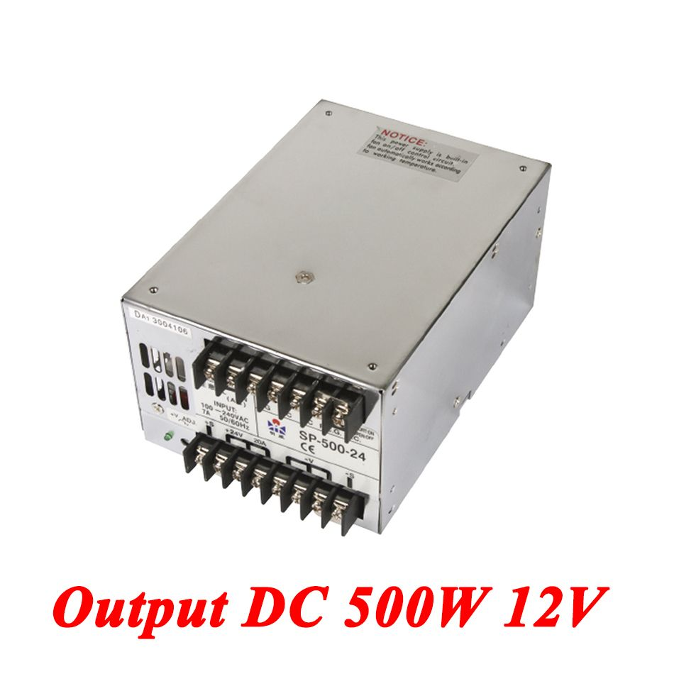 SP-500-12 PFC switching power supply 500W 12v 41 6A,Single Output ac