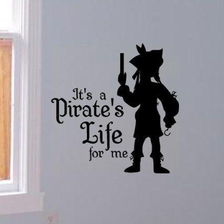 Yo Ho Yo Ho vinyl wall decal sticker kids bedroom decor Pirate Life