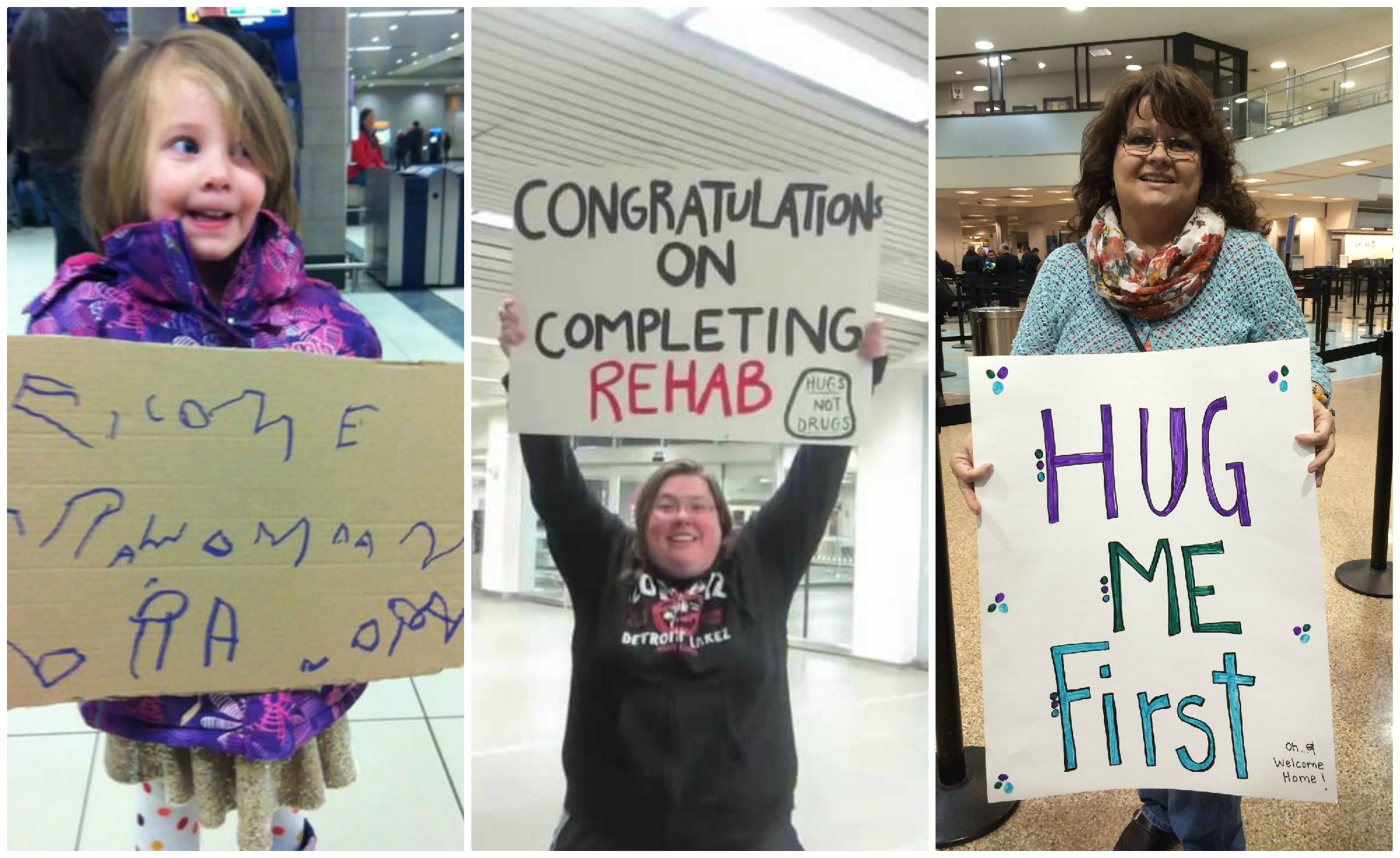 Arriving At The Airport After Being Away From Home Can Be Very Emotional Here Are The Best Funny Welcome Home Signs Welcome Home Signs Airport Welcome Signs