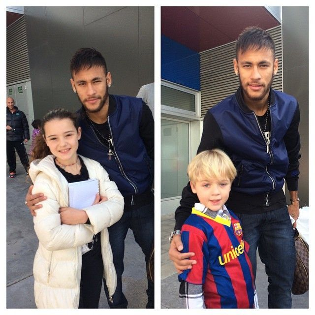 """ Neymar with fans today """