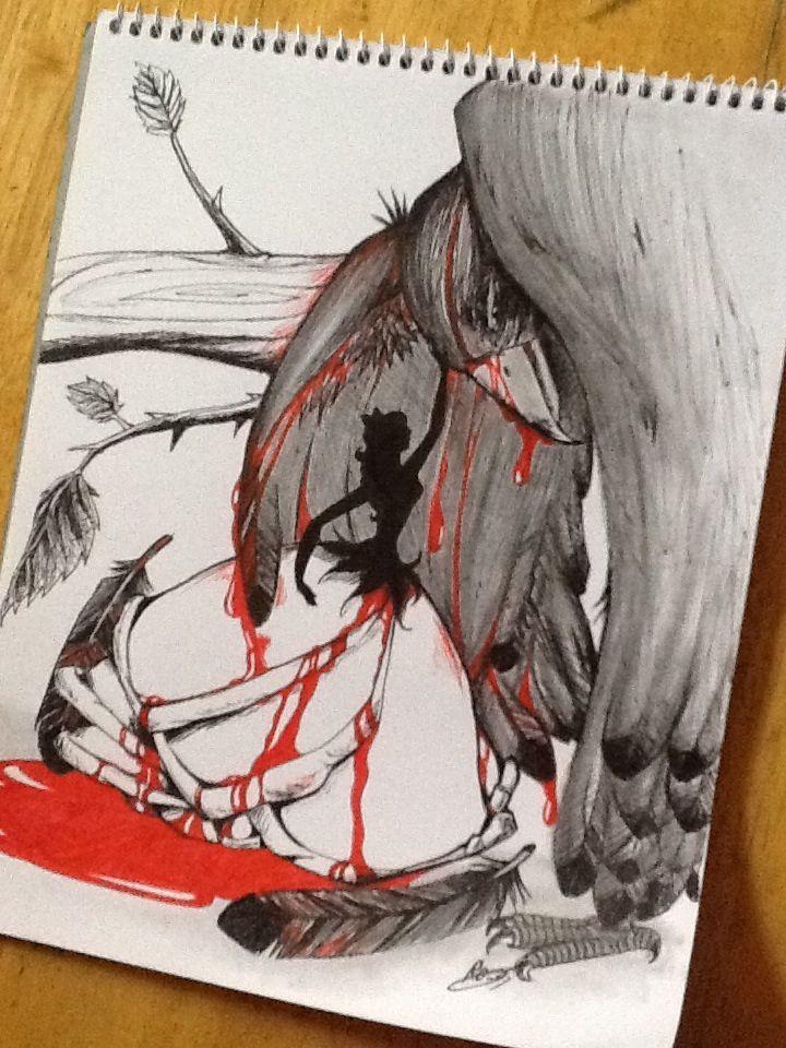 ذات مرة وقع طائر في غرام وردة بيضاء وقرر أن يصارحها بعشقه وحبه لها ولكنها رفضته وقالت انا لا أحبك ولن احبك فظل الطائر يصار Art Drawings My Drawings Art