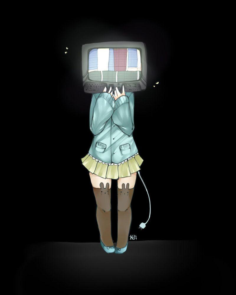Anime With Tv Head