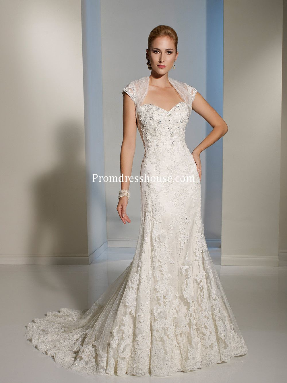 With A Wrap Applique Beading Lace Mermaid Wedding Dress | Bride ...