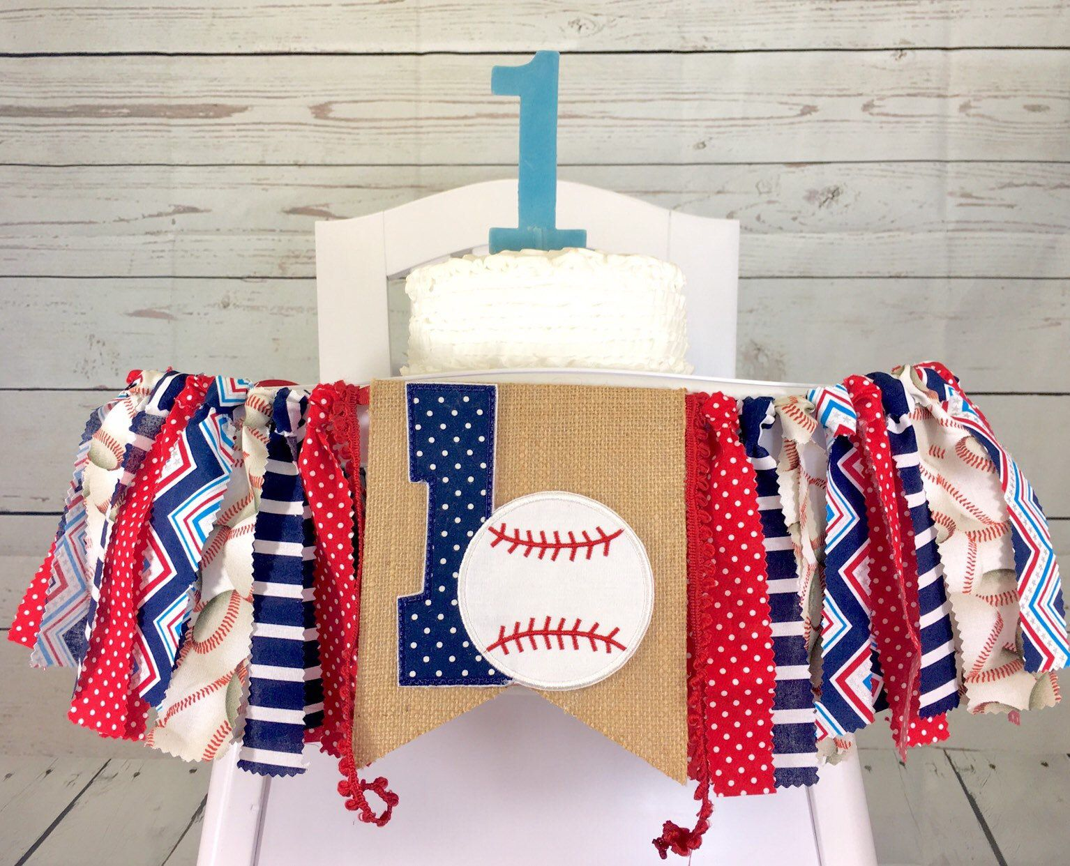 Baseball High Chair Banner Fabric