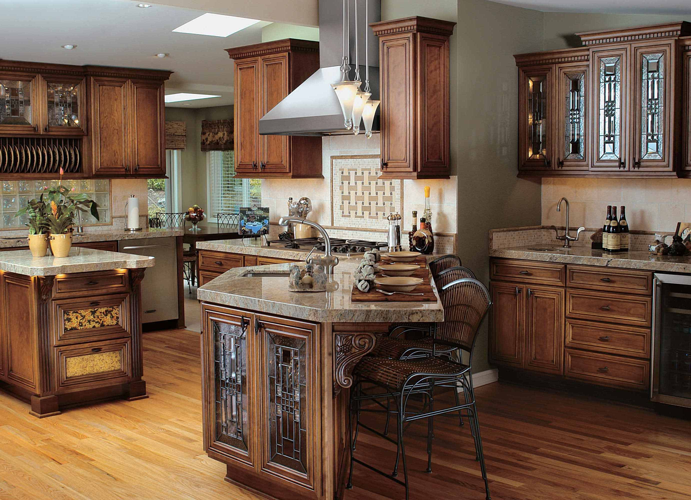 Custom Rustic Kitchen Cabinets Image Result For Gray Countertop And Brown Cabinets  Countertop
