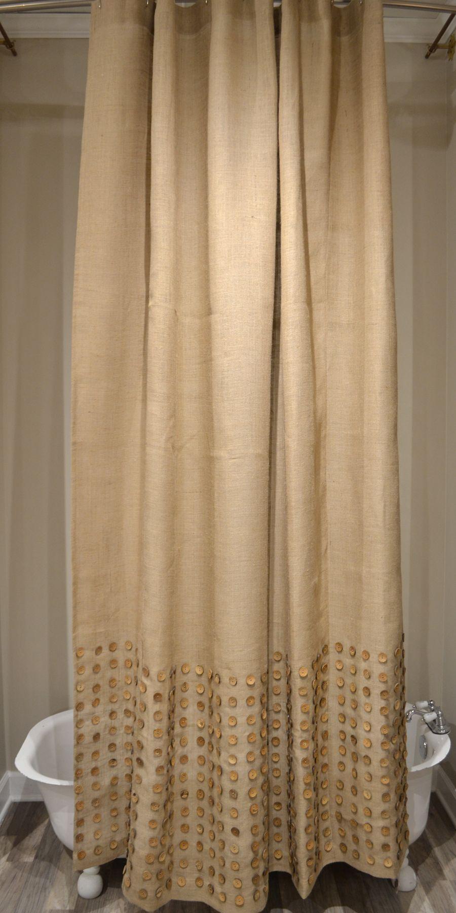 Natural shower curtain - Homthreads Burlap Band Shower Curtain Natural 72 X72 Decorating Ideas Pinterest Curtain Ideas Decorating And Bath
