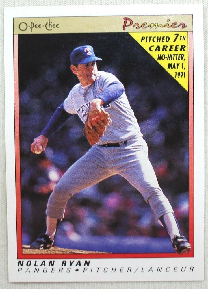 1991 opeechee premier baseball 102 nolan ryan texas