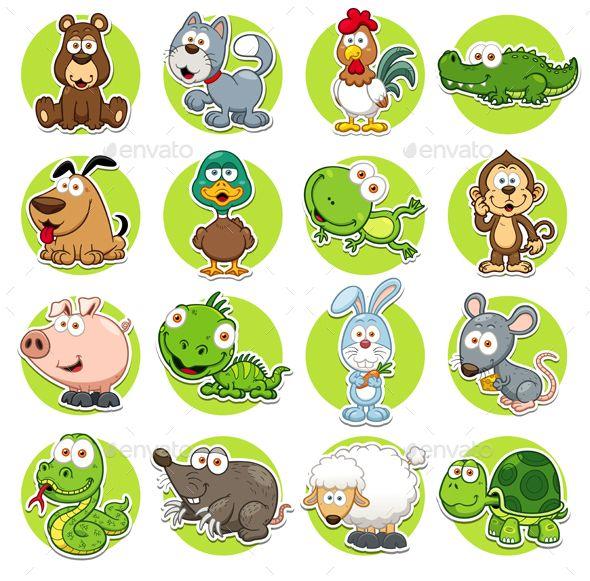 Animals Set Animals Icon Animal Illustration Vector Animals