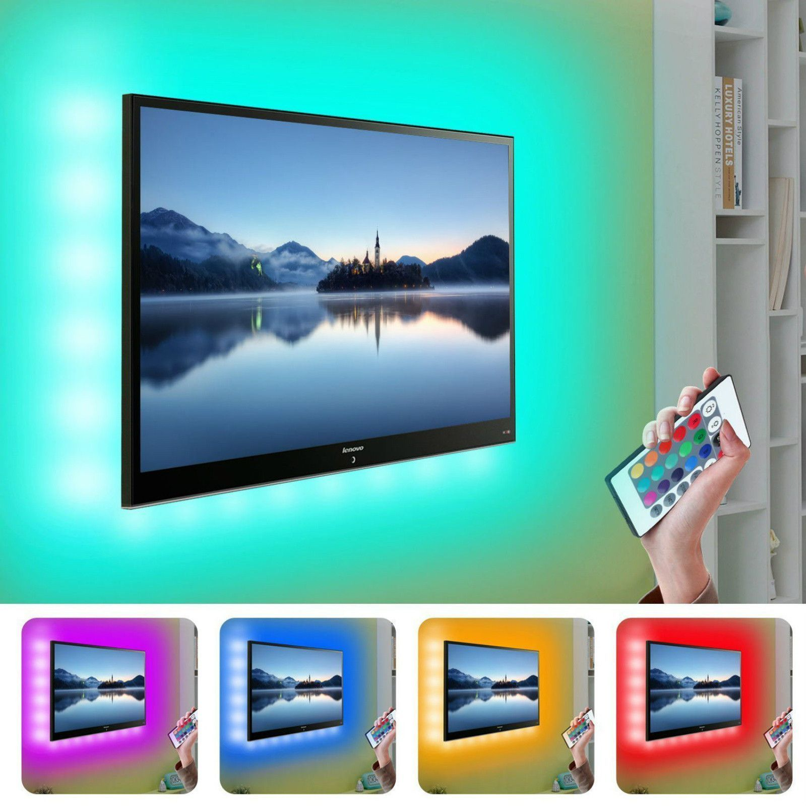 Led Light Strip Tv Backlight W Remote Ideas For The House