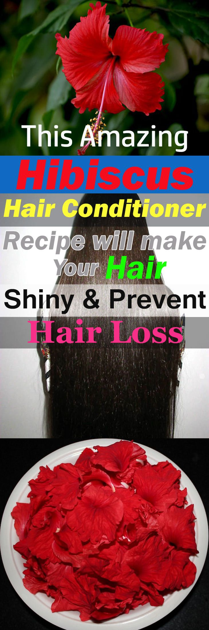 This Amazing Hibiscus Hair Conditioner Recipe Will Make Your Hair Shiny & Prevent Hair Loss