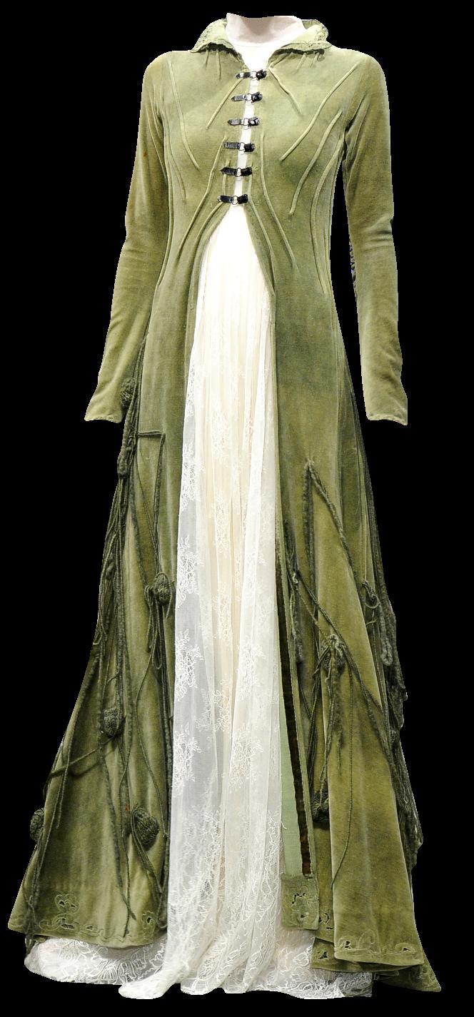 Split front dress with sheer under dress