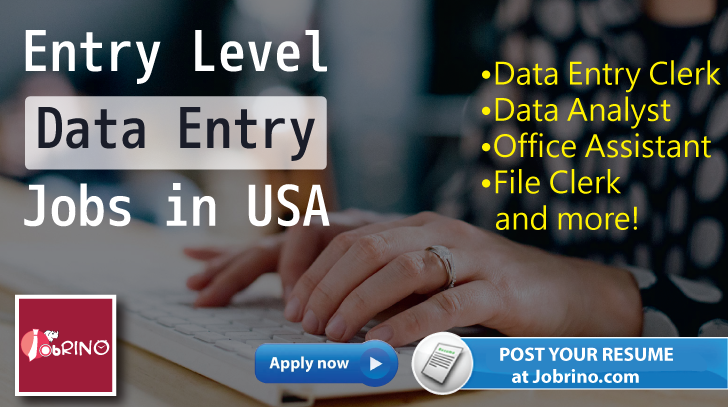 Search For 84344 Entrylevel Dataentry Jobs In Usa On Jobrino