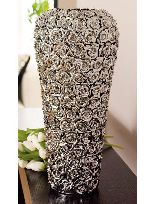 Rose Ceramic Vase Large Chrome Home And Garden Design Ideas Large Vase Wall Vase Decor Ceramic Vase