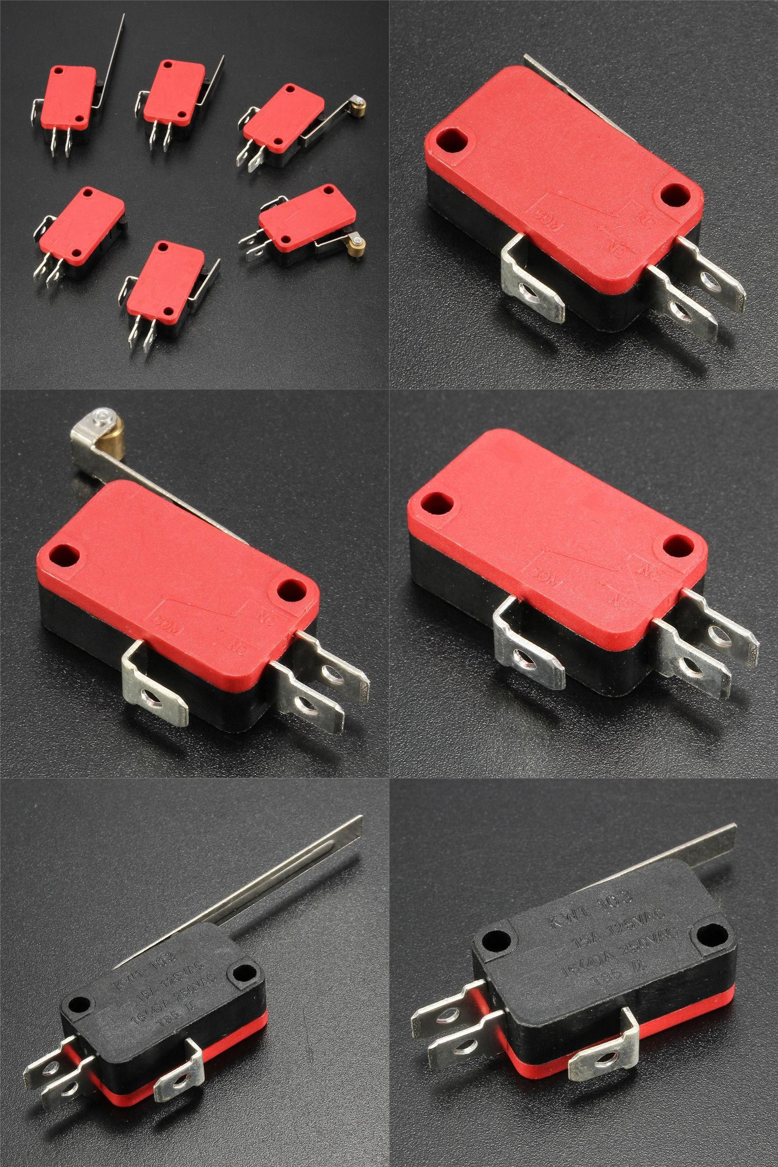 Visit To Buy Red Black 1pcs Microswitch Spdt 16a Ac 250v Micro Switch With Roller Lever