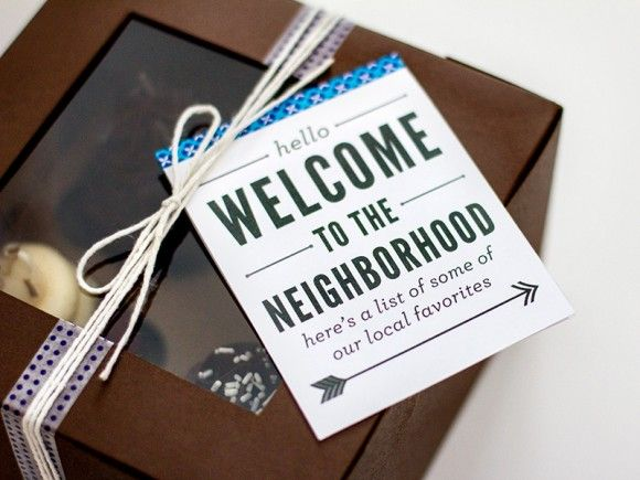 Welcome To The Neighborhood A Printable List Local Favorites For New Neighbor Gift Smart Diy Pinterest Crafty And Craft