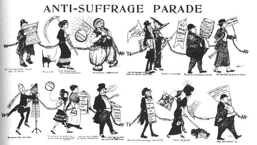 Women S Suffrage And Art Anti Movement Woman Essay
